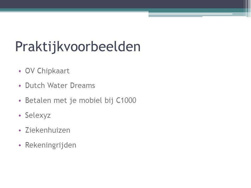Praktijkvoorbeelden OV Chipkaart Dutch Water Dreams
