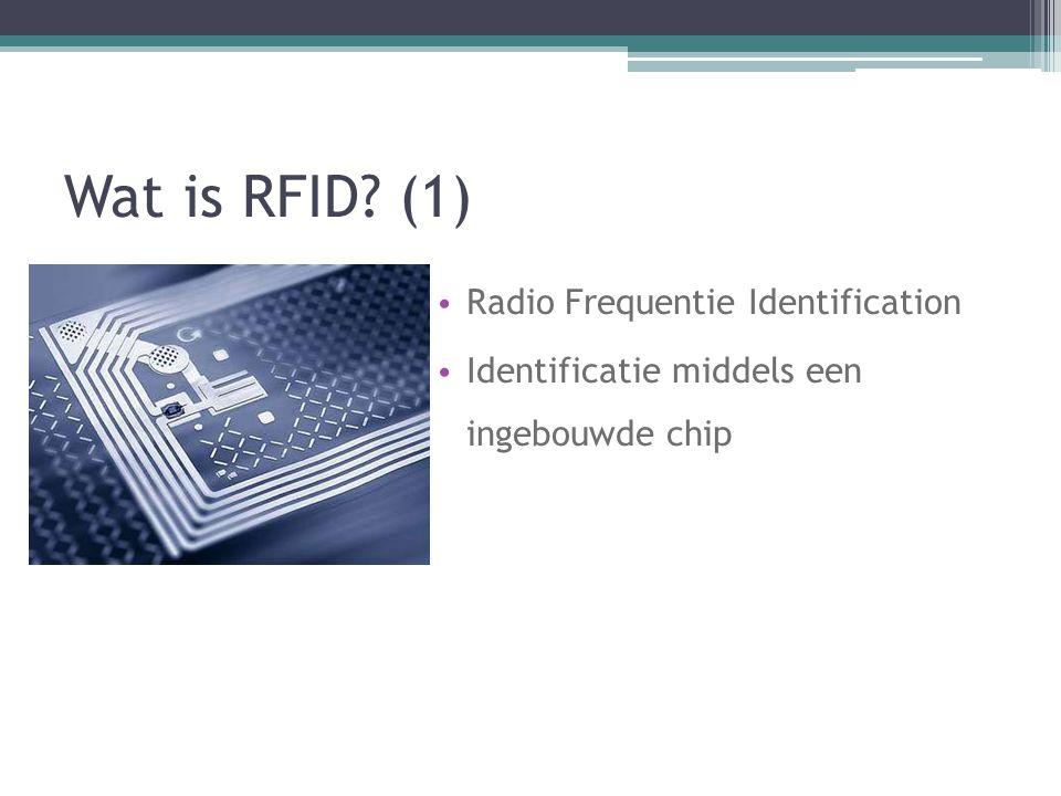 Wat is RFID (1) Radio Frequentie Identification