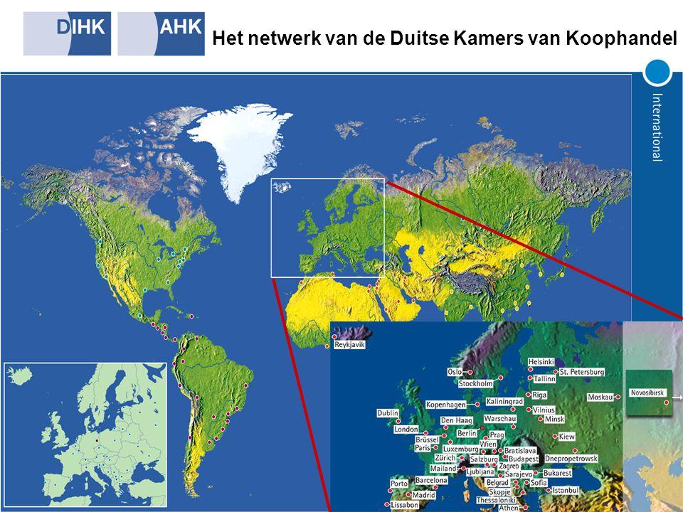 Het netwerk van de Duitse Kamers van Koophandel