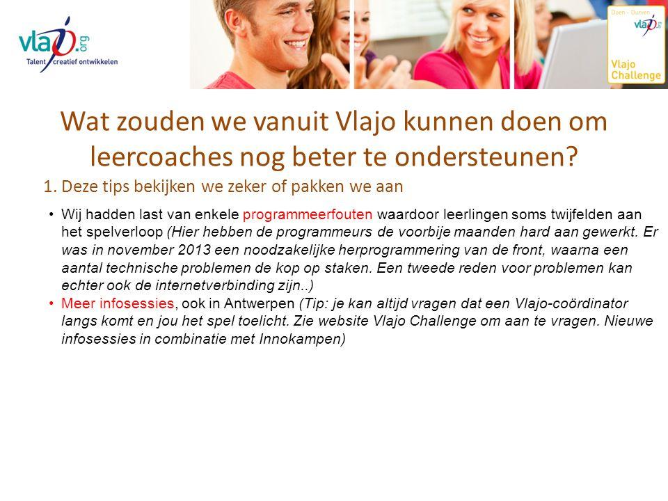 Wat zouden we vanuit Vlajo kunnen doen om leercoaches nog beter te ondersteunen