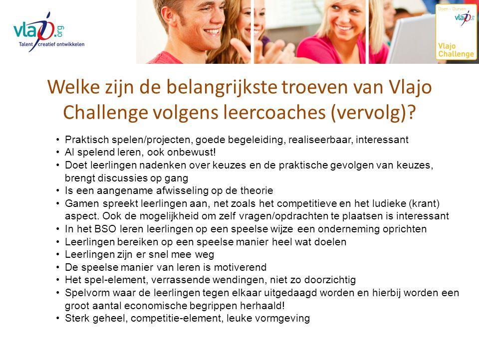 Welke zijn de belangrijkste troeven van Vlajo Challenge volgens leercoaches (vervolg)