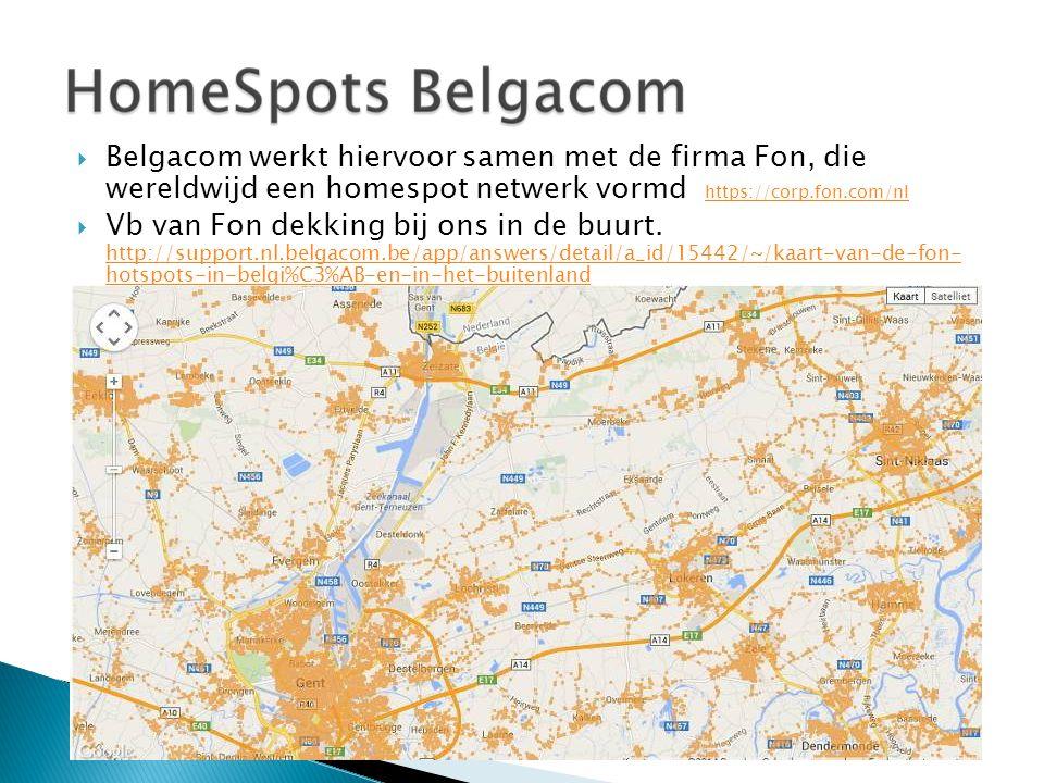 Belgacom werkt hiervoor samen met de firma Fon, die wereldwijd een homespot netwerk vormd https://corp.fon.com/nl