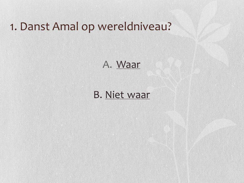 1. Danst Amal op wereldniveau