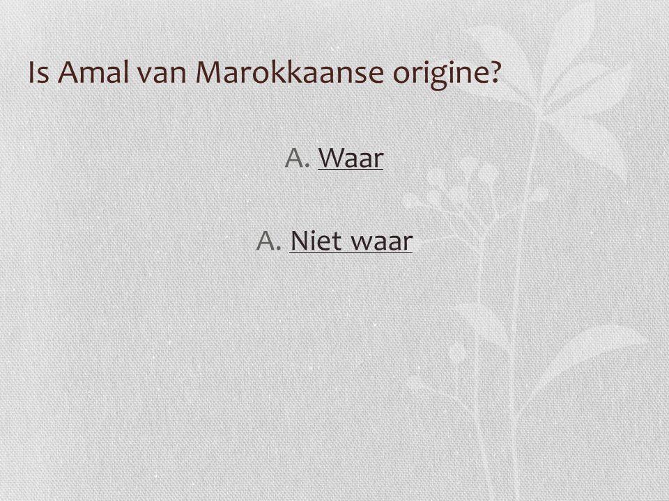 Is Amal van Marokkaanse origine