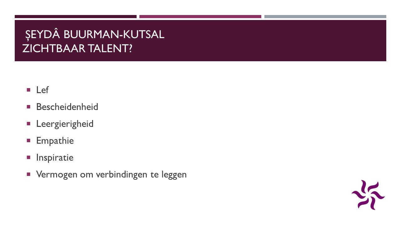 Şeydâ Buurman-Kutsal Zichtbaar Talent