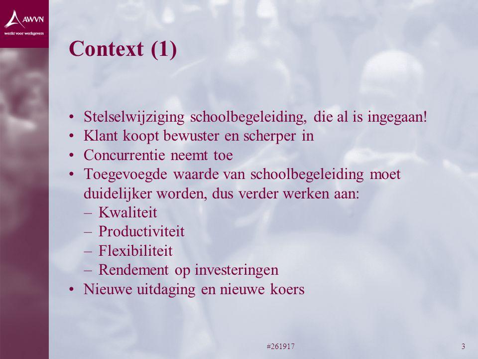 Context (1) Stelselwijziging schoolbegeleiding, die al is ingegaan!
