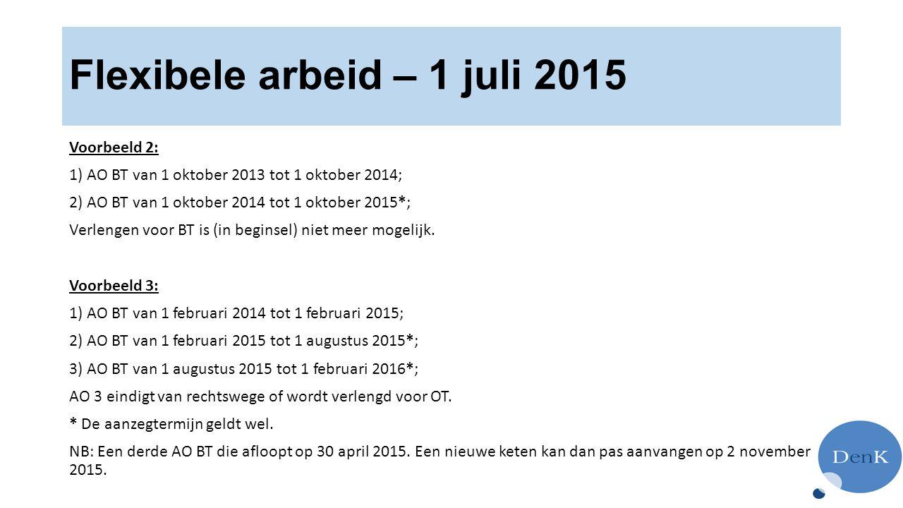 Flexibele arbeid – 1 juli 2015
