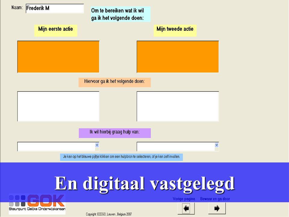 En digitaal vastgelegd en digitaal vastgelegd.