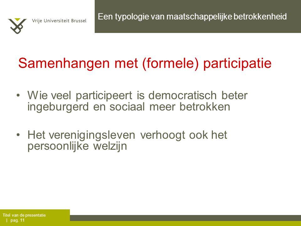 Een typologie van maatschappelijke betrokkenheid