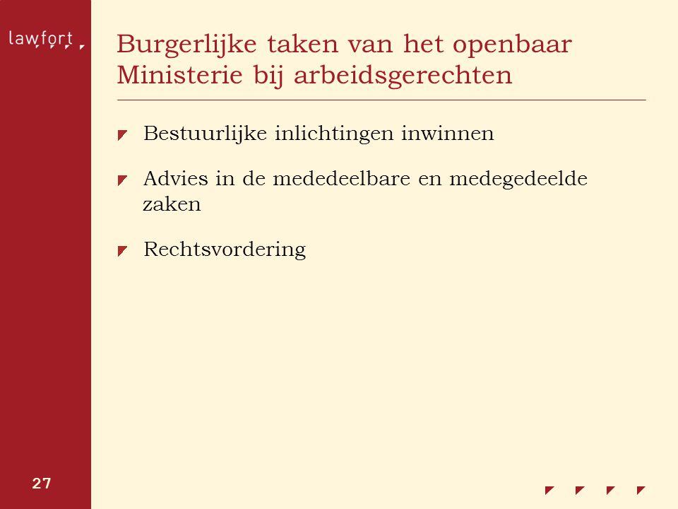 Burgerlijke taken van het openbaar Ministerie bij arbeidsgerechten