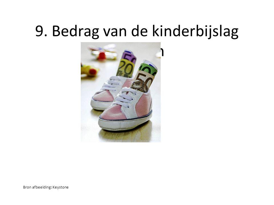 9. Bedrag van de kinderbijslag bepalen