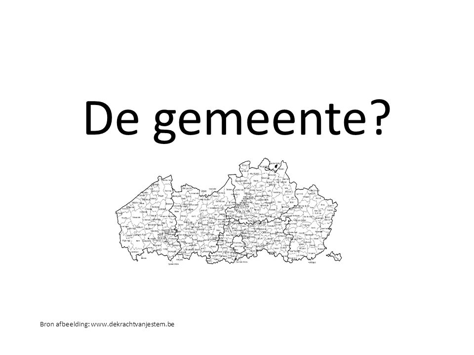 De gemeente Bron afbeelding: www.dekrachtvanjestem.be