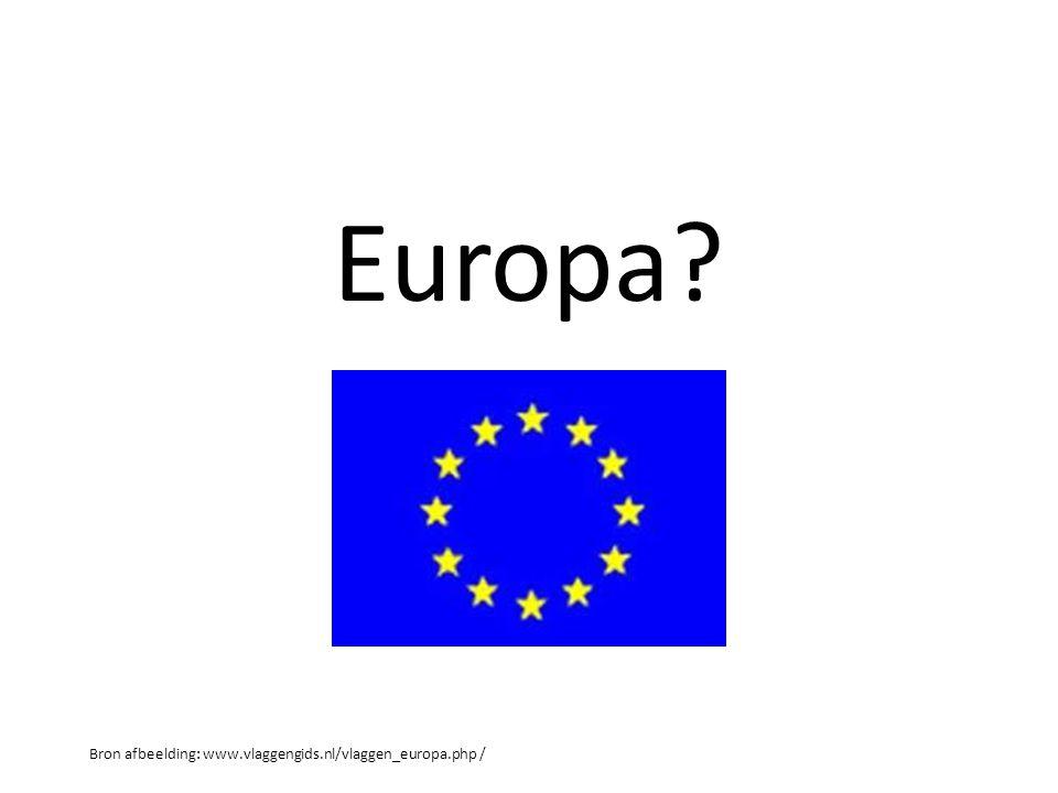 Europa Bron afbeelding: www.vlaggengids.nl/vlaggen_europa.php /