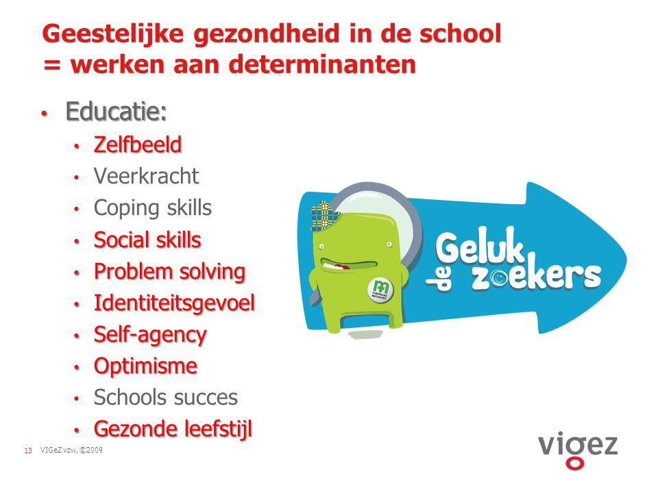 Geestelijke gezondheid in de school = werken aan determinanten