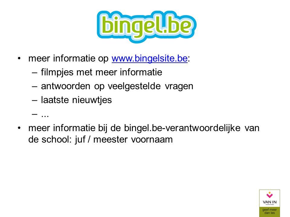 meer informatie op www.bingelsite.be: