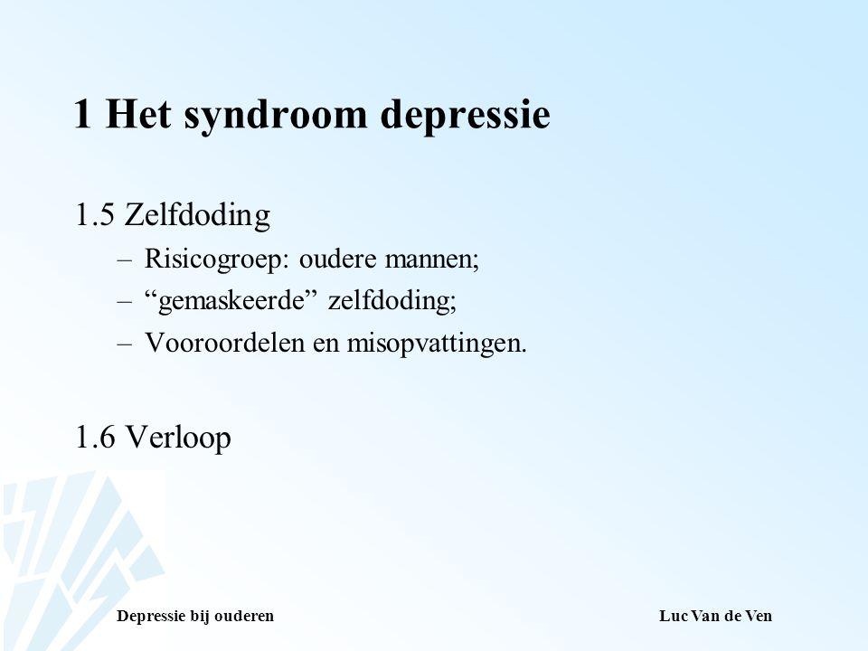 1 Het syndroom depressie