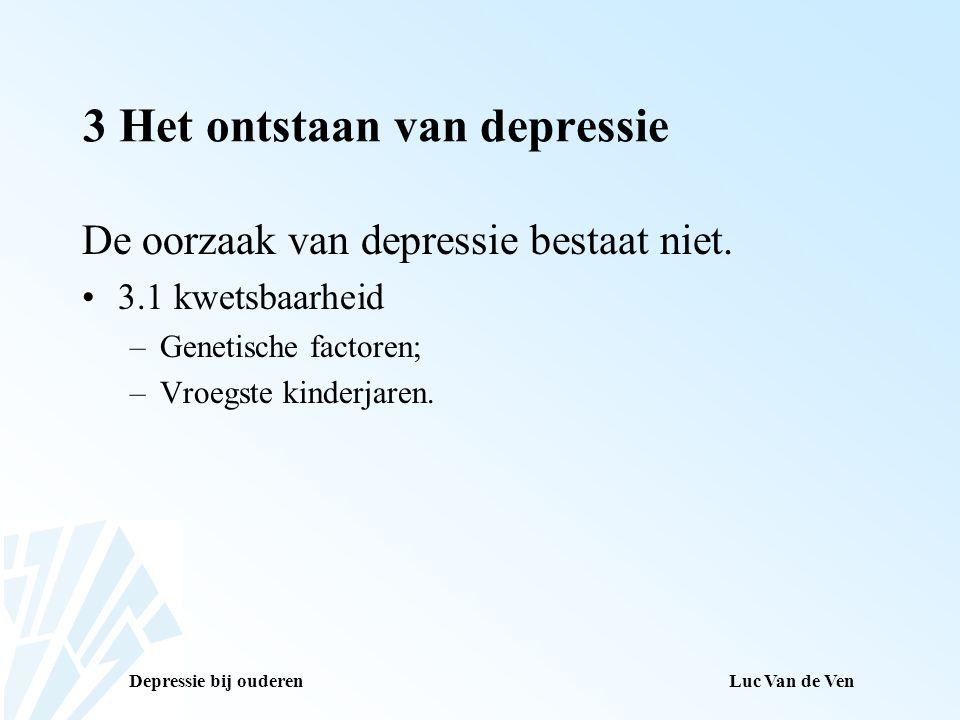3 Het ontstaan van depressie