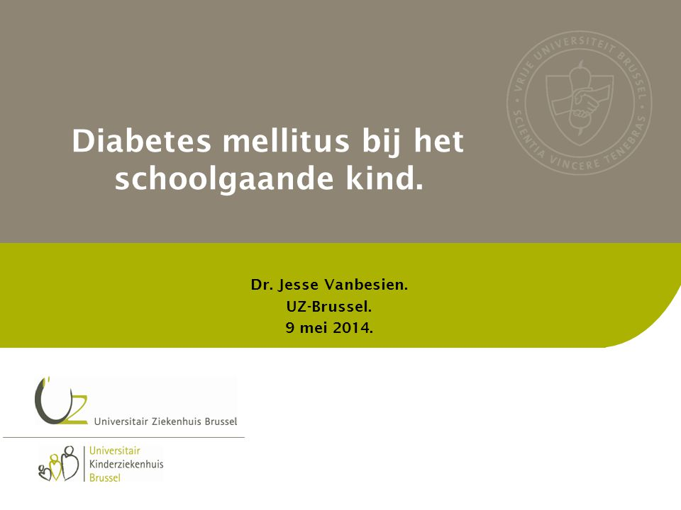 Diabetes mellitus bij het schoolgaande kind.