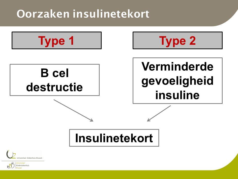 Oorzaken insulinetekort