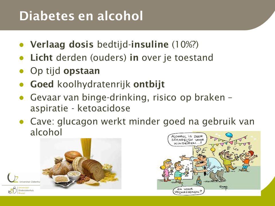 Diabetes en alcohol Verlaag dosis bedtijd-insuline (10% )