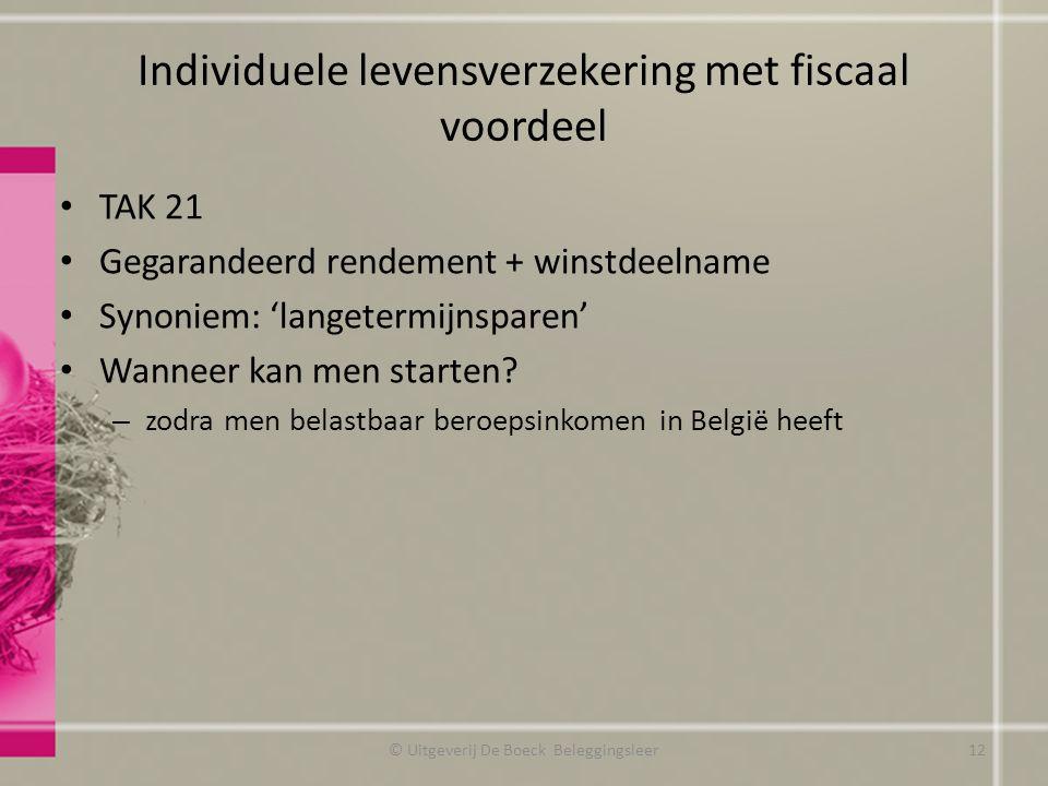 Individuele levensverzekering met fiscaal voordeel