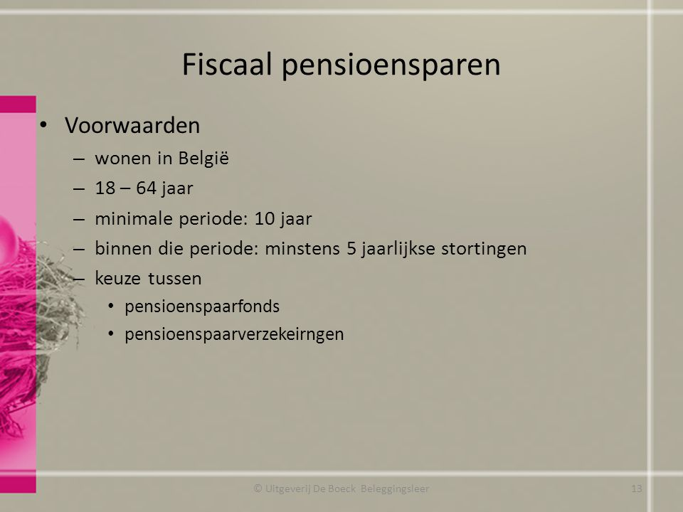 Fiscaal pensioensparen