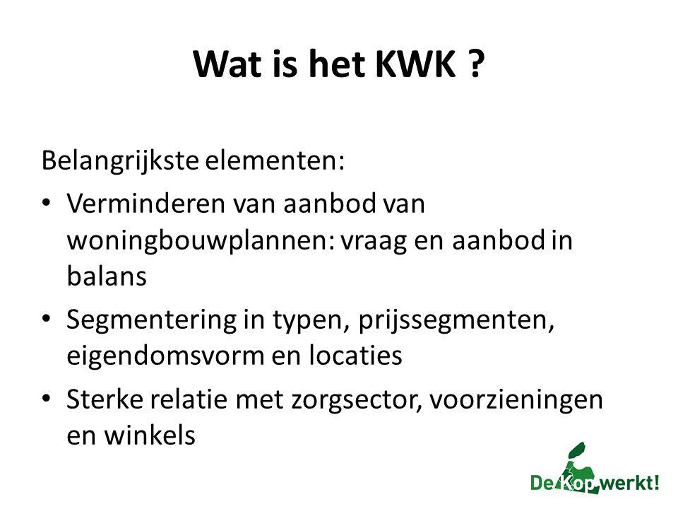 Wat is het KWK Belangrijkste elementen: