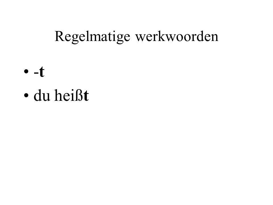 Regelmatige werkwoorden