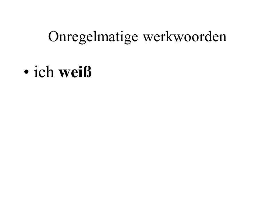 Onregelmatige werkwoorden