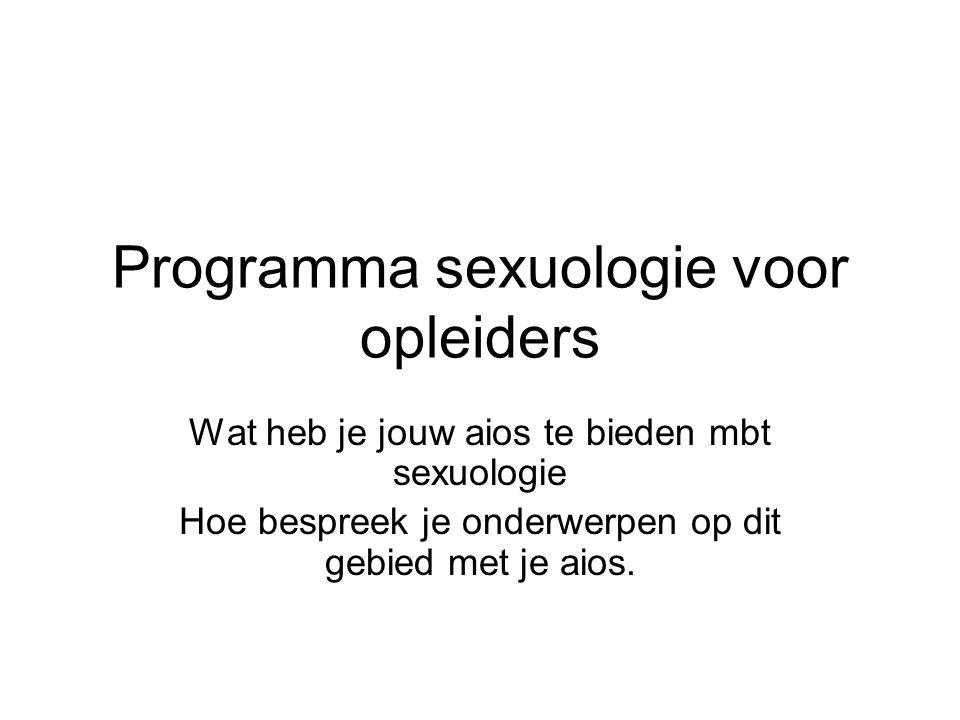 Programma sexuologie voor opleiders