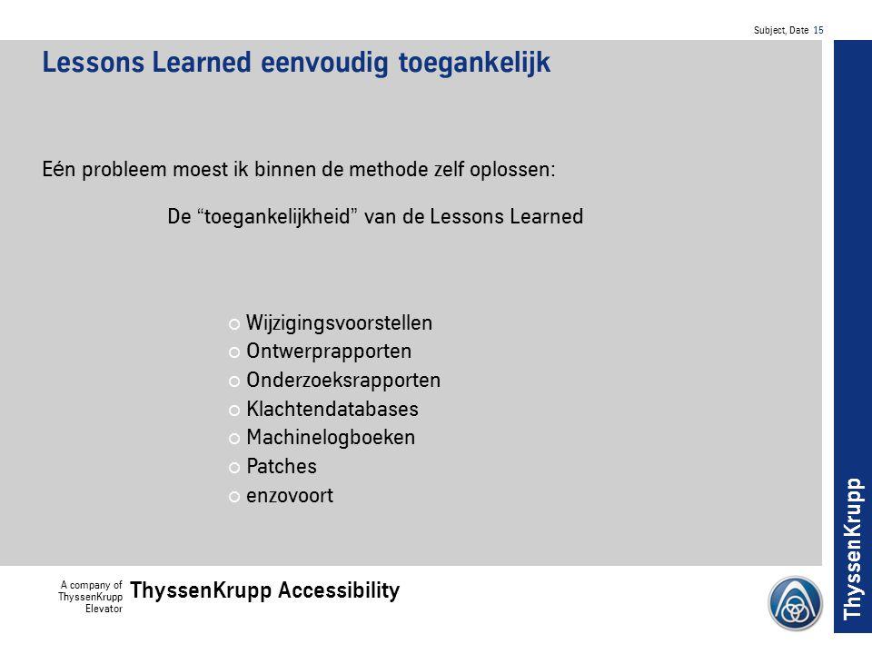 Lessons Learned eenvoudig toegankelijk