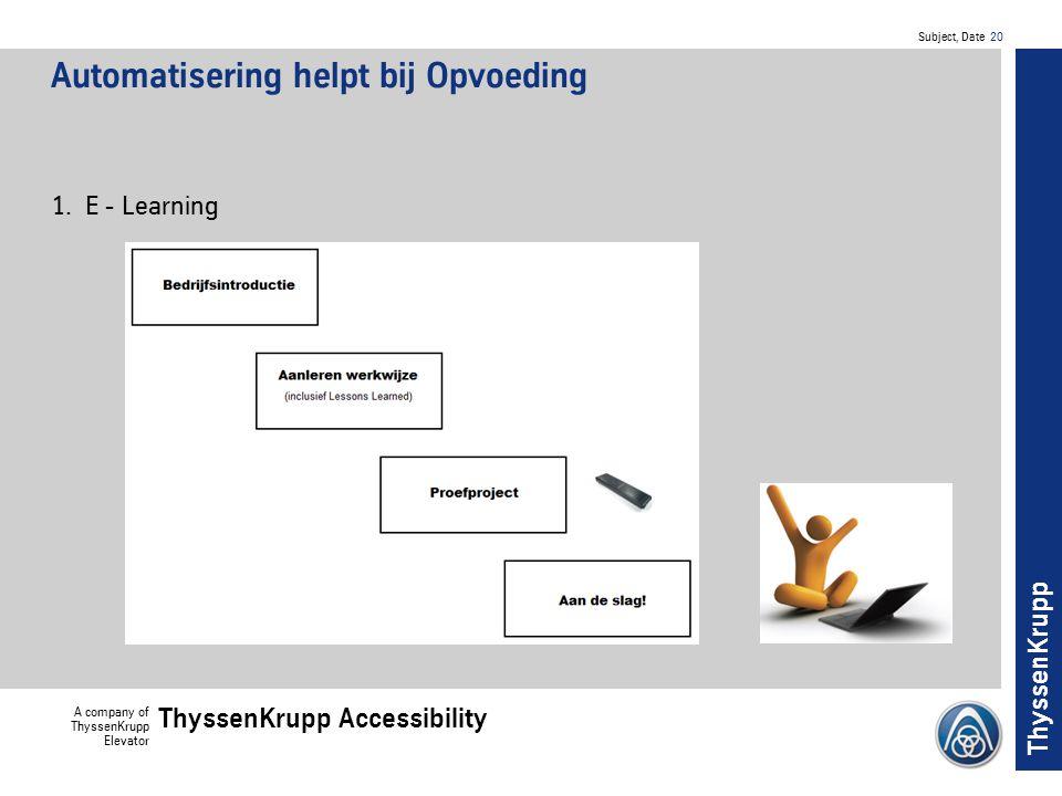 Automatisering helpt bij Opvoeding