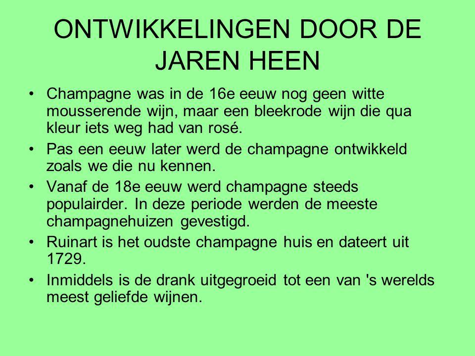 ONTWIKKELINGEN DOOR DE JAREN HEEN