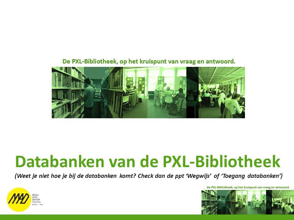 Databanken van de PXL-Bibliotheek