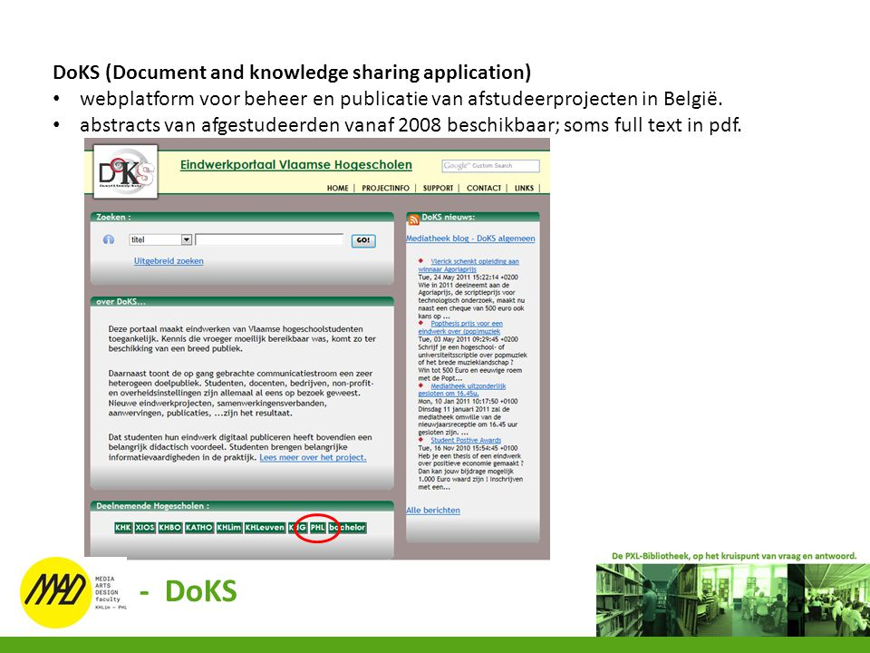 - DoKS DoKS (Document and knowledge sharing application)