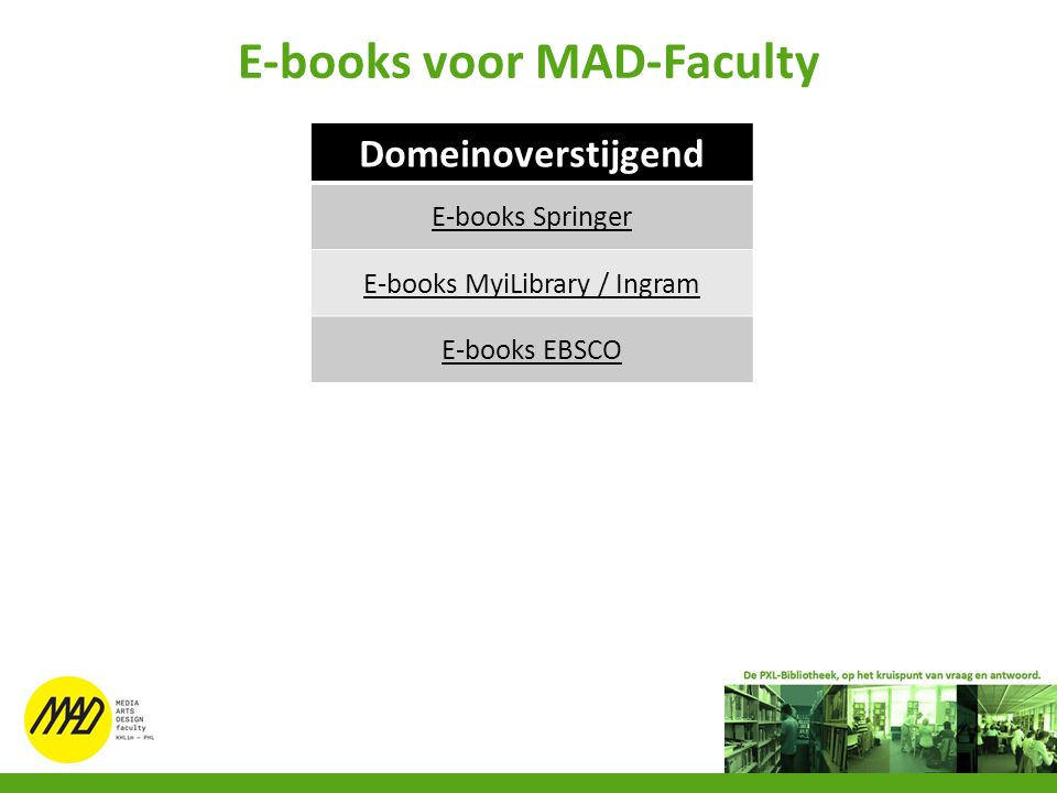E-books voor MAD-Faculty