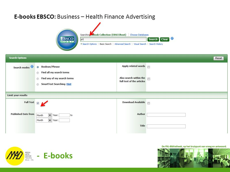 E-books EBSCO: Business – Health Finance Advertising