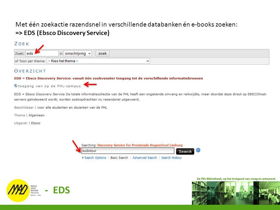 Met één zoekactie razendsnel in verschillende databanken én e-books zoeken: