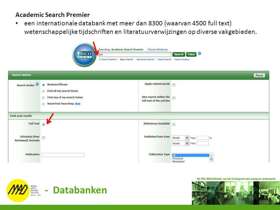 - Databanken Academic Search Premier