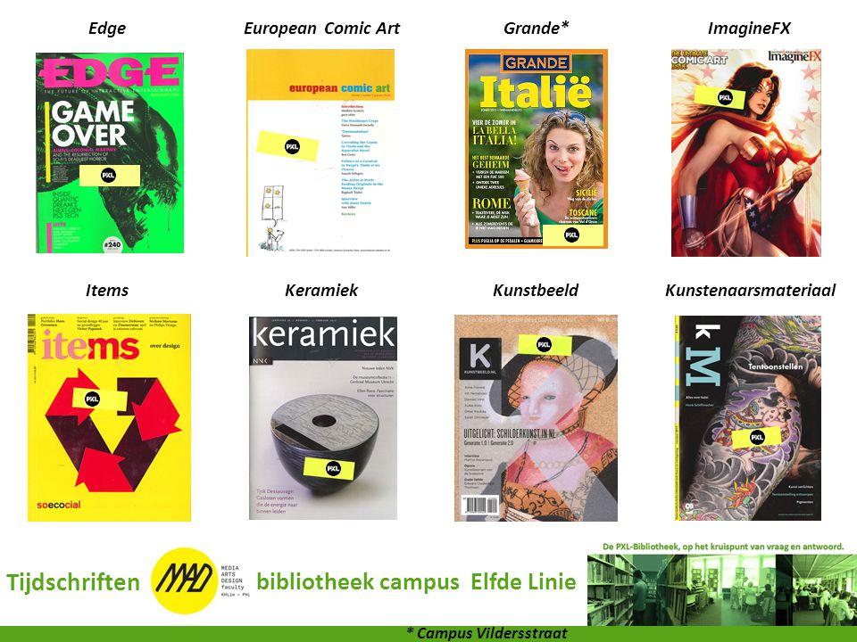 Kunstenaarsmateriaal bibliotheek campus Elfde Linie