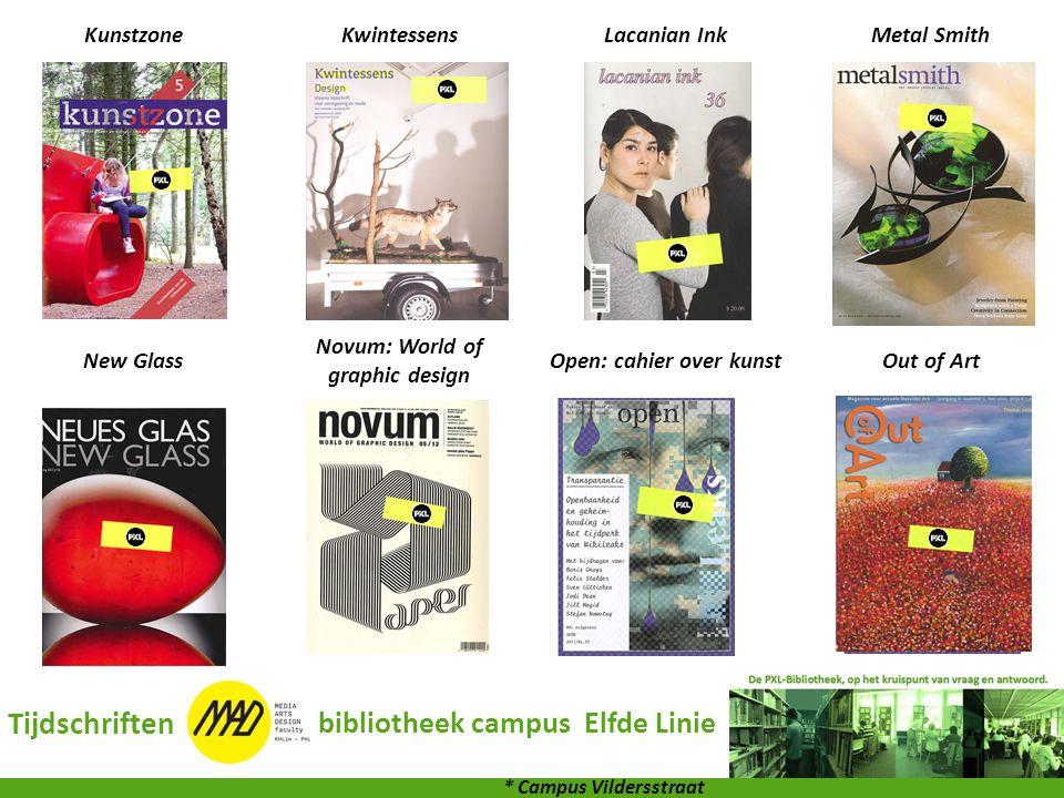 Tijdschriften bibliotheek campus Elfde Linie Kunstzone Kwintessens