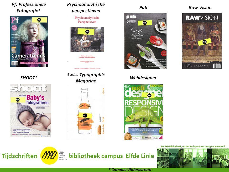 Tijdschriften bibliotheek campus Elfde Linie