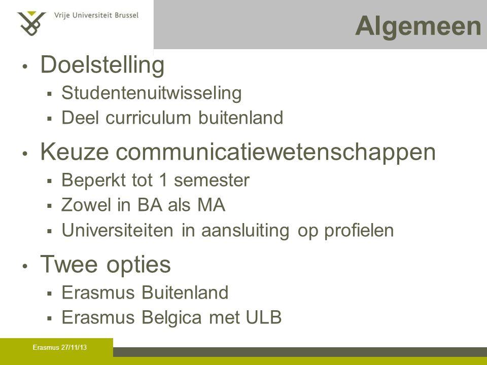 Erasmus buitenland - BA3