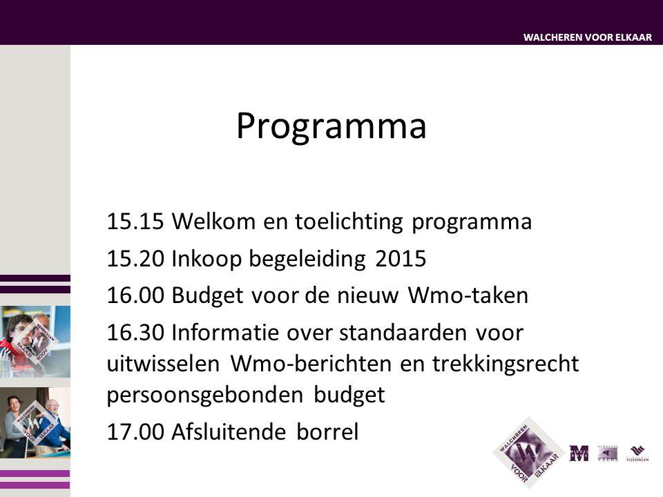 Programma 15.15 Welkom en toelichting programma