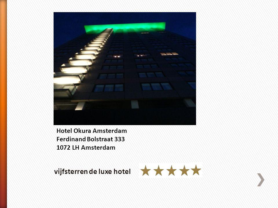 vijfsterren de luxe hotel