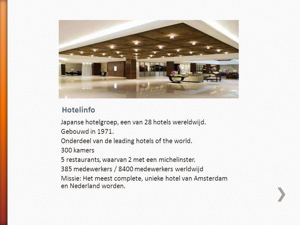 Hotelinfo Japanse hotelgroep, een van 28 hotels wereldwijd.
