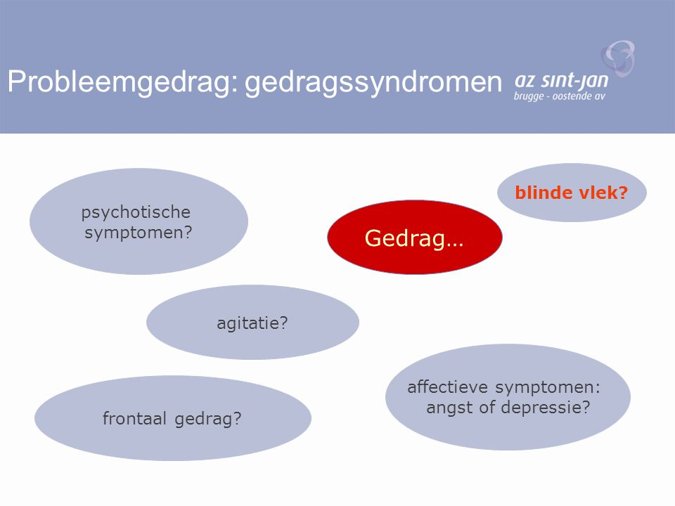 Probleemgedrag: gedragssyndromen