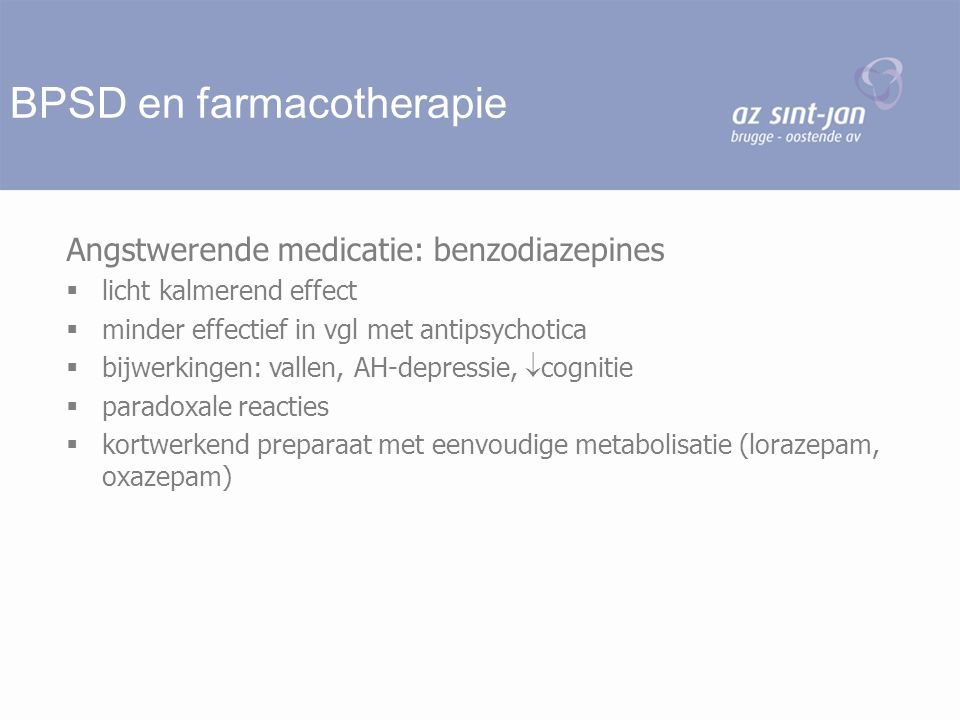 BPSD en farmacotherapie