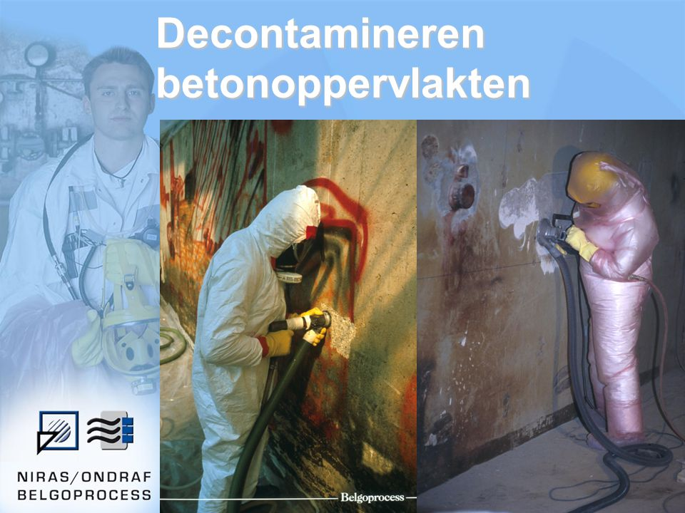 Decontamineren betonoppervlakten