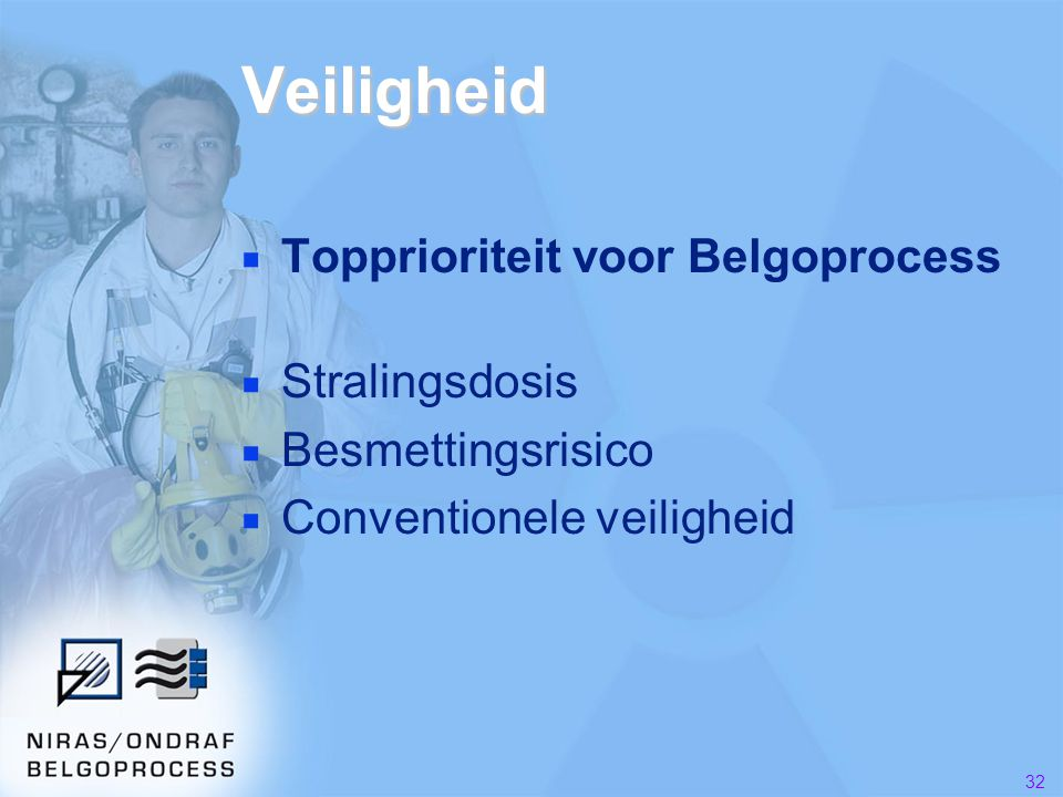 Veiligheid Topprioriteit voor Belgoprocess Stralingsdosis